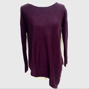 Matty M asymmetrical purple sweater.